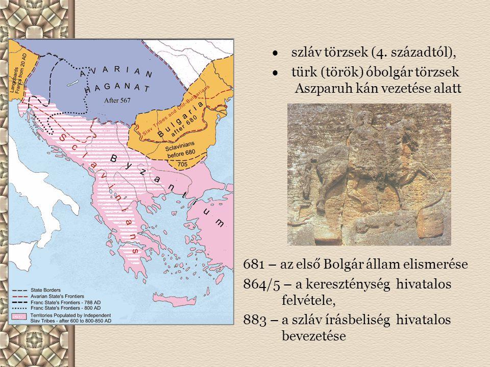  szláv törzsek (4. századtól),