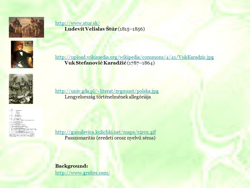 http://www. stur. sk/ Ludevít Velislav Štúr (1815–1856) http://upload