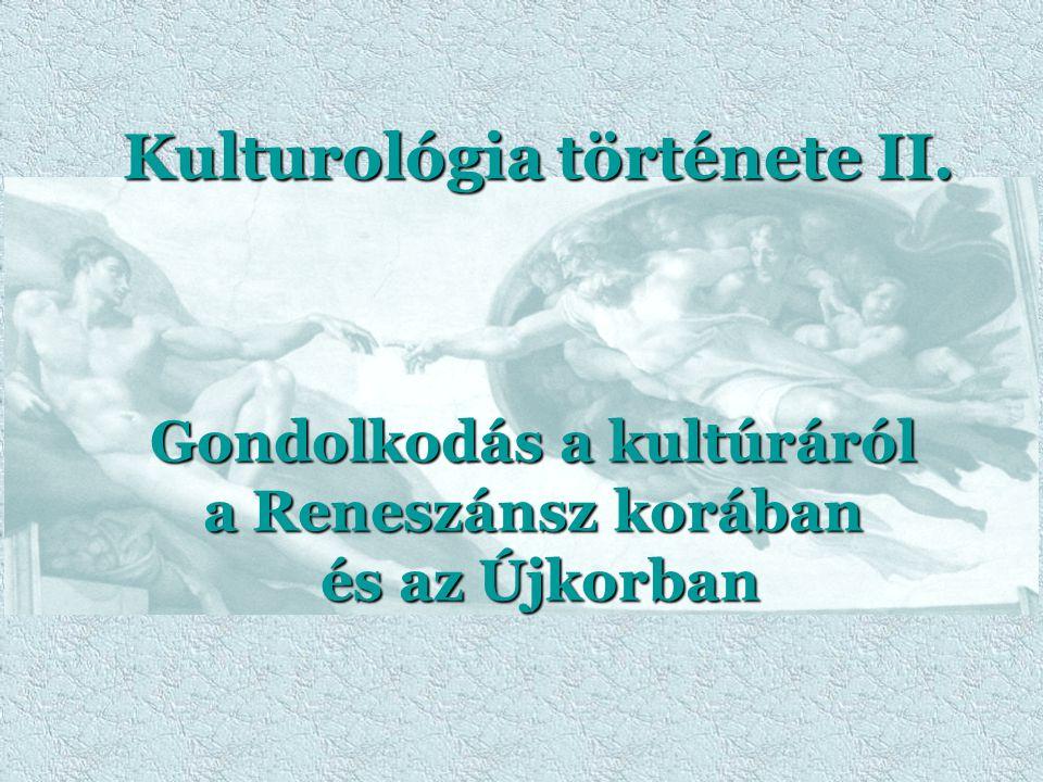 Kulturológia története II.