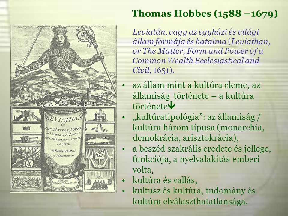 Thomas Hobbes (1588 –1679)