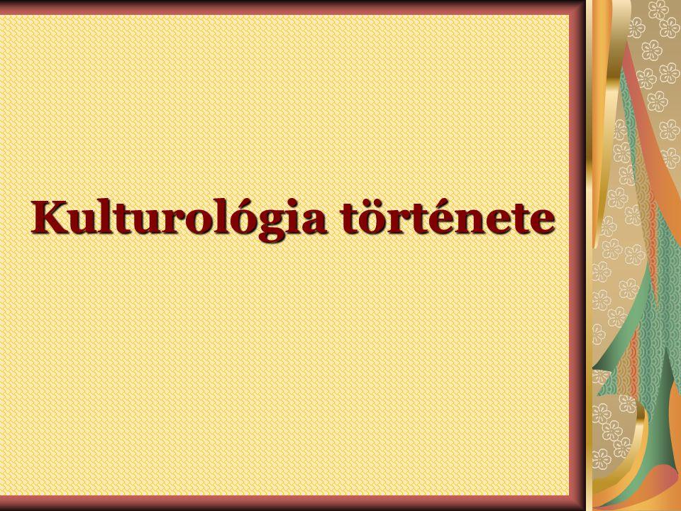 Kulturológia története