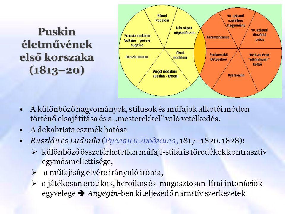 Puskin életművének első korszaka (1813–20)