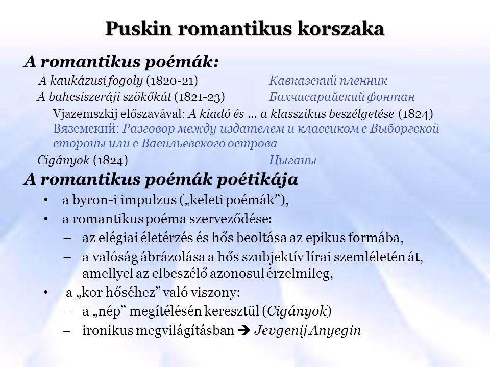 Puskin romantikus korszaka