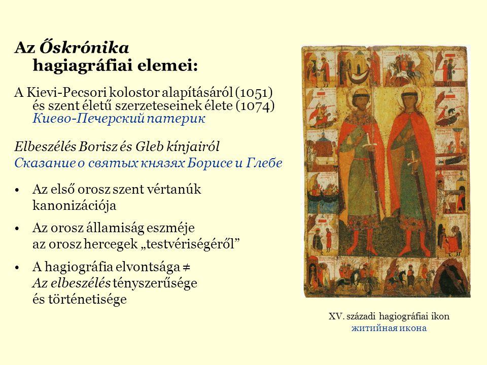 XV. századi hagiográfiai ikon