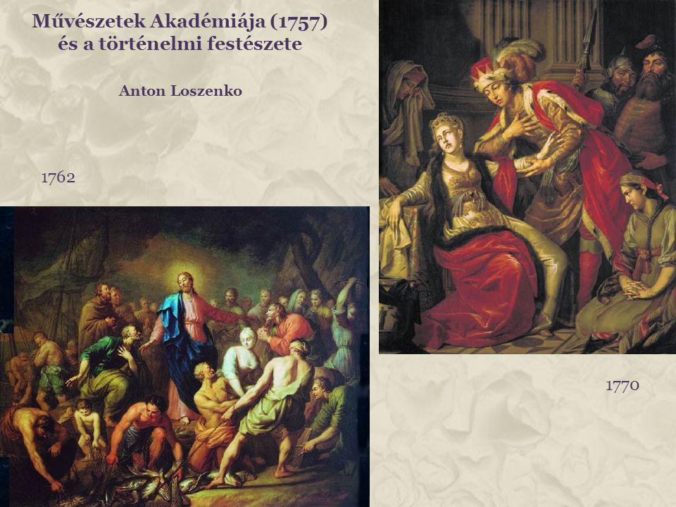 Művészetek Akadémiája (1757) és a történelmi festészete