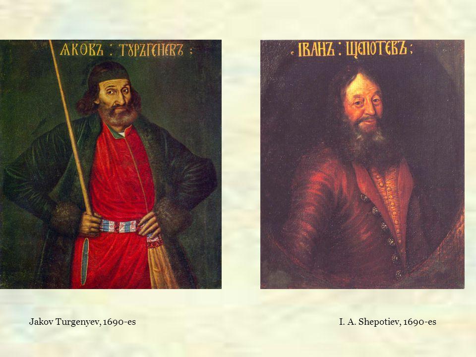 Jakov Turgenyev, 1690-es I. A. Shepotiev, 1690-es