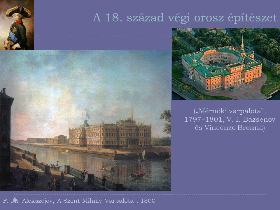 A 18. század végi orosz építészet