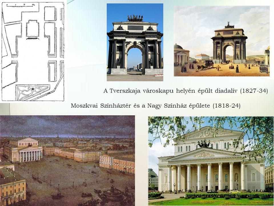A Tverszkaja városkapu helyén épült diadalív (1827-34)