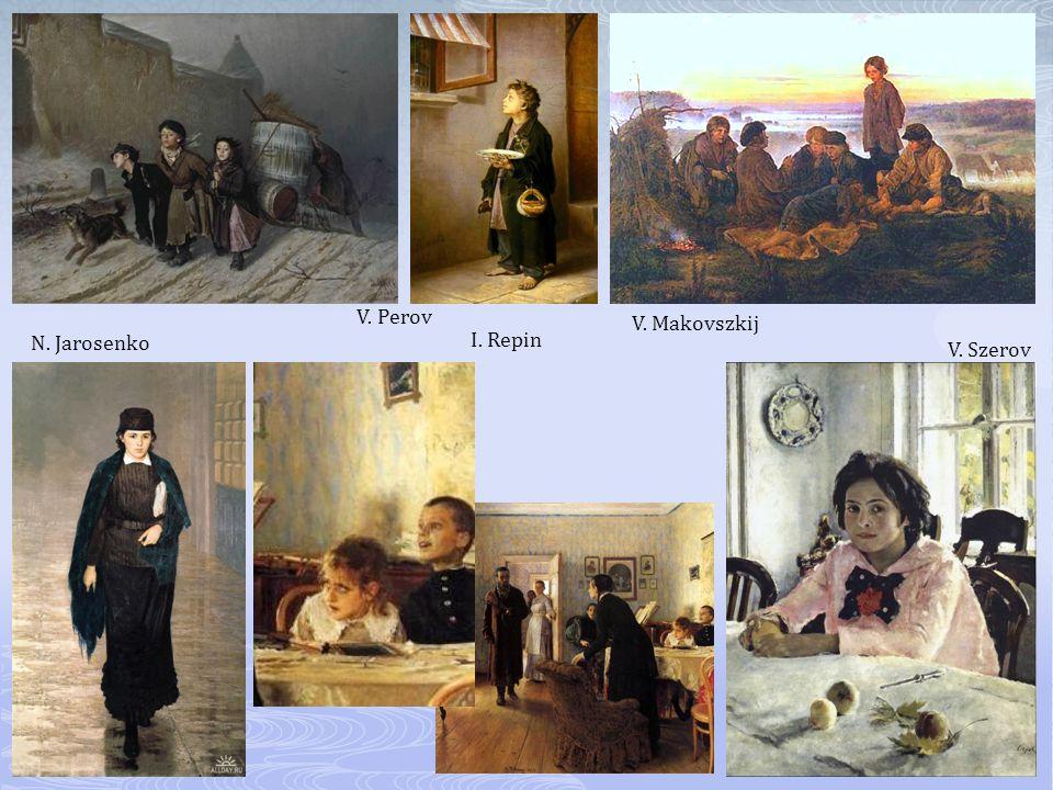 V. Perov N. Jarosenko V. Makovszkij V. Szerov I. Repin