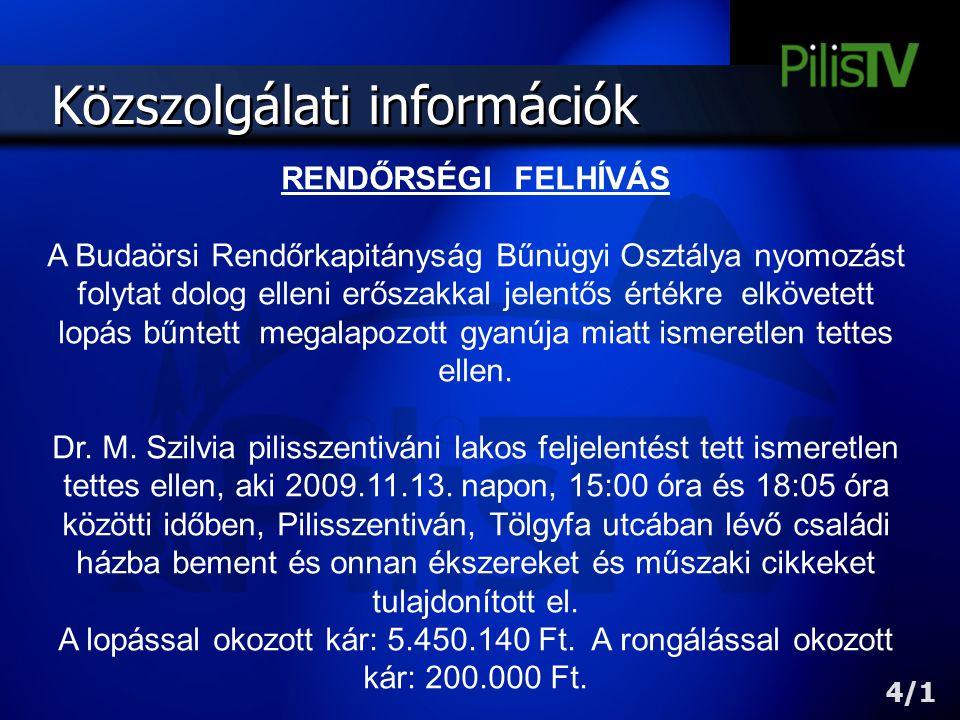 Közszolgálati információk