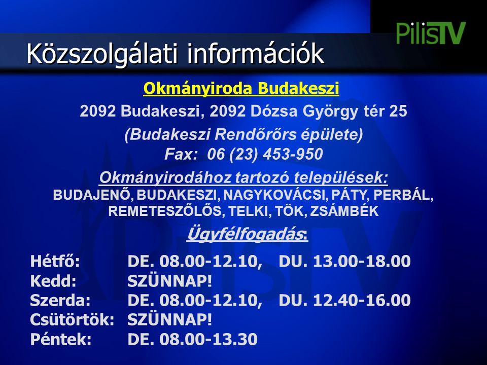Okmányiroda Budakeszi