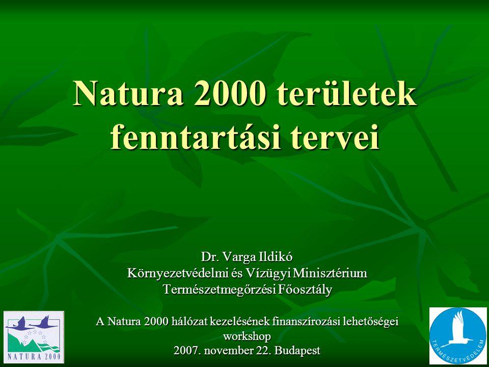 Natura 2000 területek fenntartási tervei