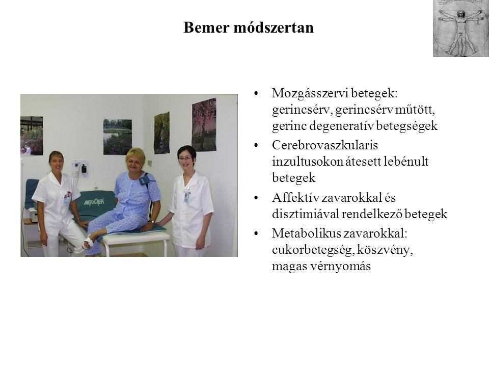 Bemer módszertan Mozgásszervi betegek: gerincsérv, gerincsérv műtött, gerinc degeneratív betegségek.