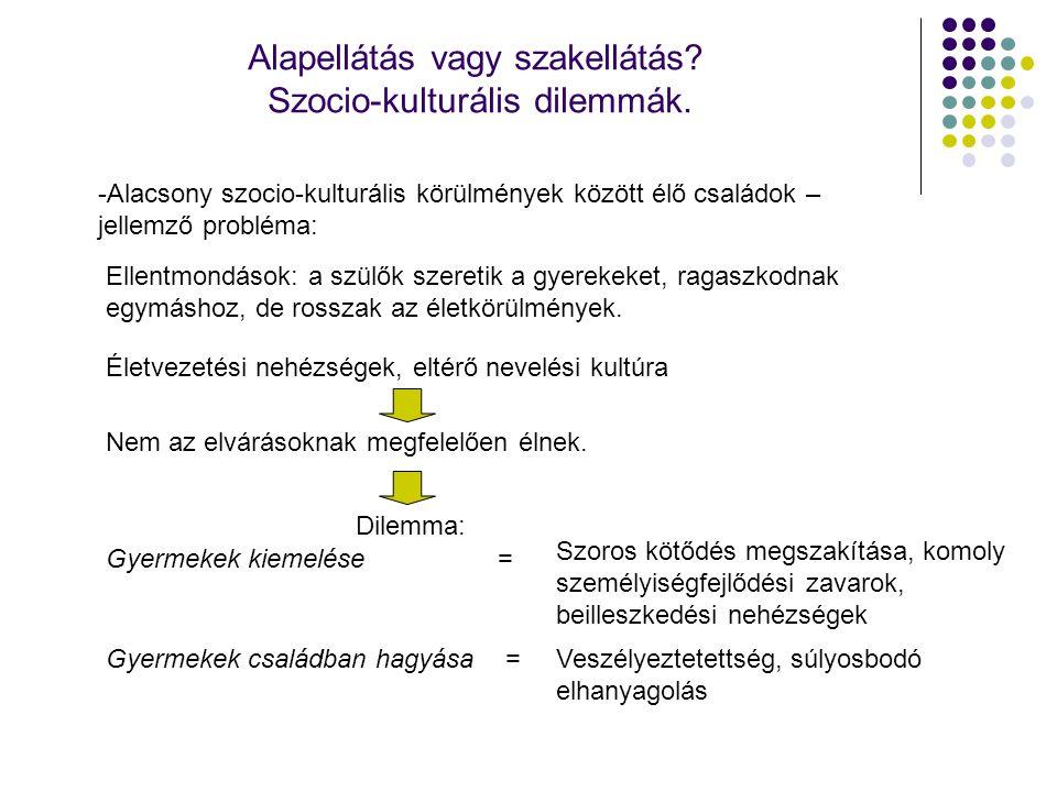 Alapellátás vagy szakellátás Szocio-kulturális dilemmák.