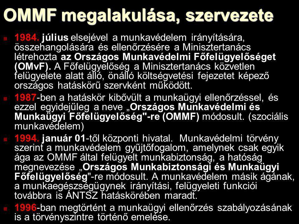 OMMF megalakulása, szervezete