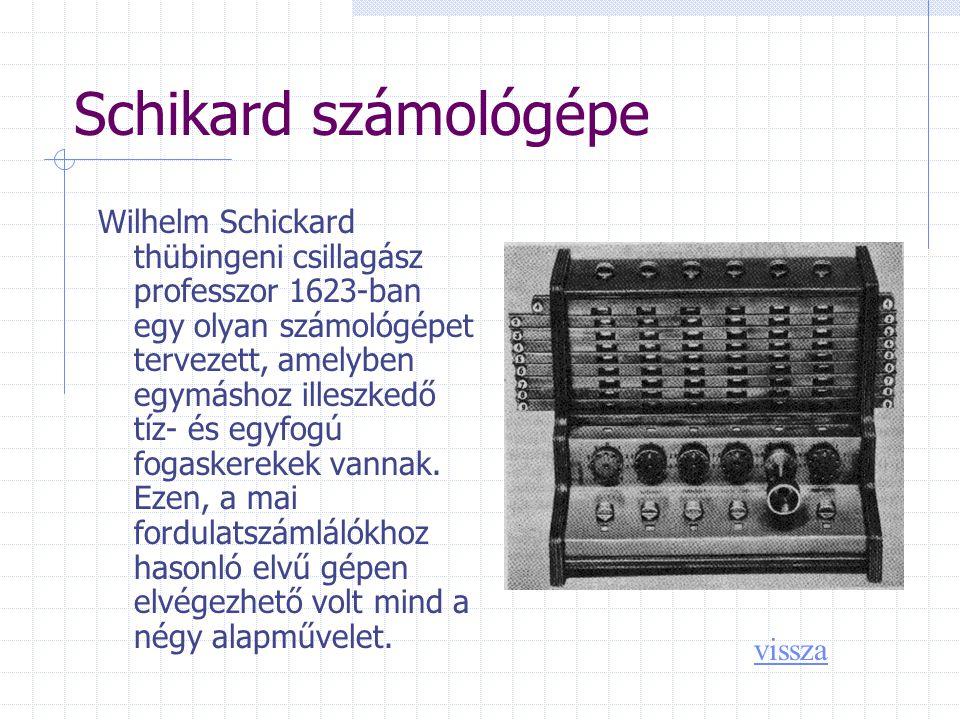 Schikard számológépe