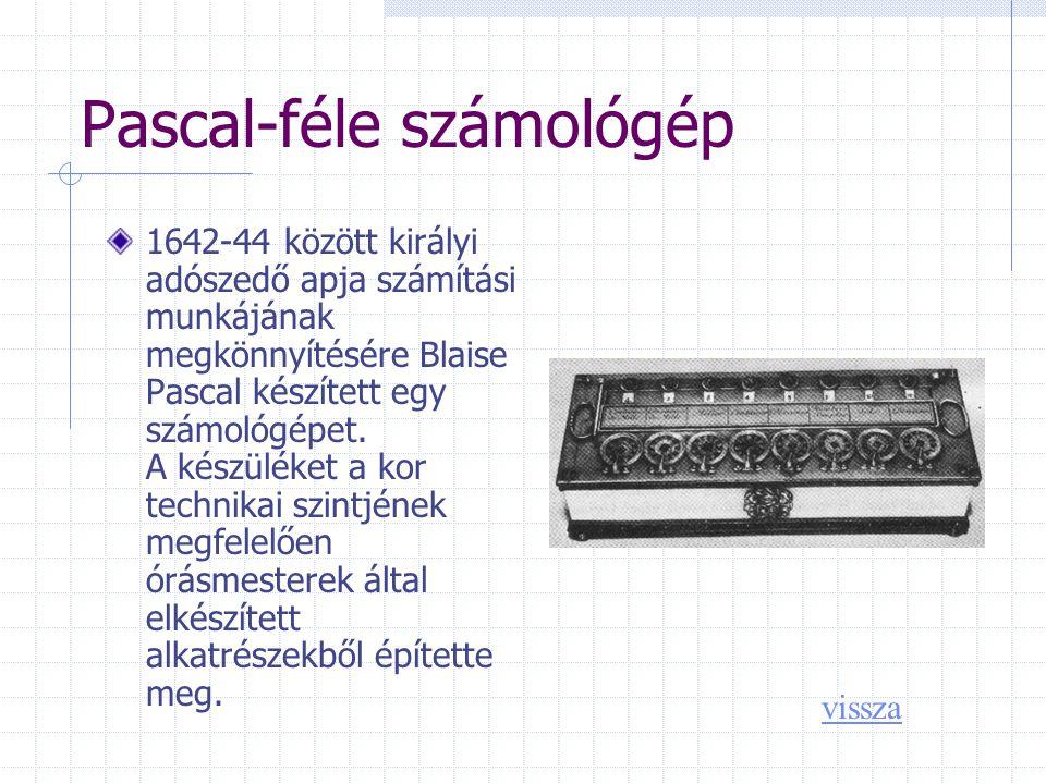 Pascal-féle számológép