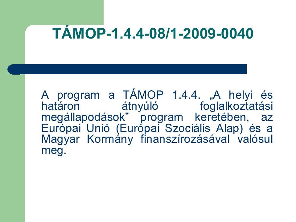 TÁMOP-1.4.4-08/1-2009-0040
