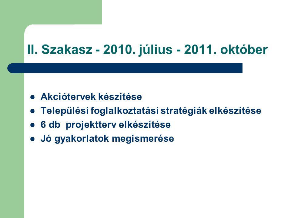 II. Szakasz - 2010. július - 2011. október
