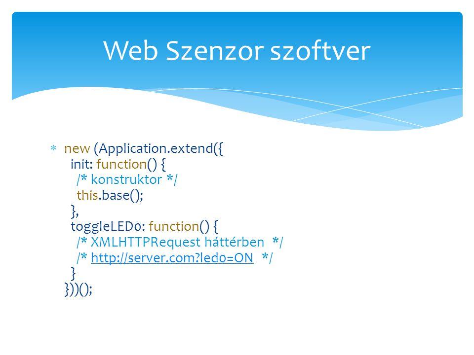 Web Szenzor szoftver