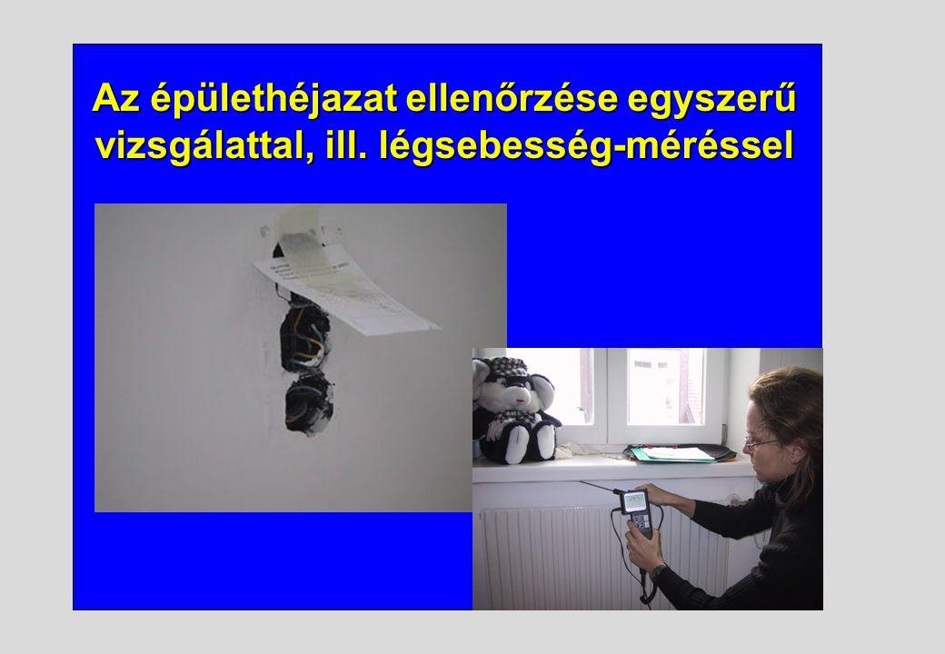 Az épülethéjazat ellenőrzése egyszerű vizsgálattal, ill