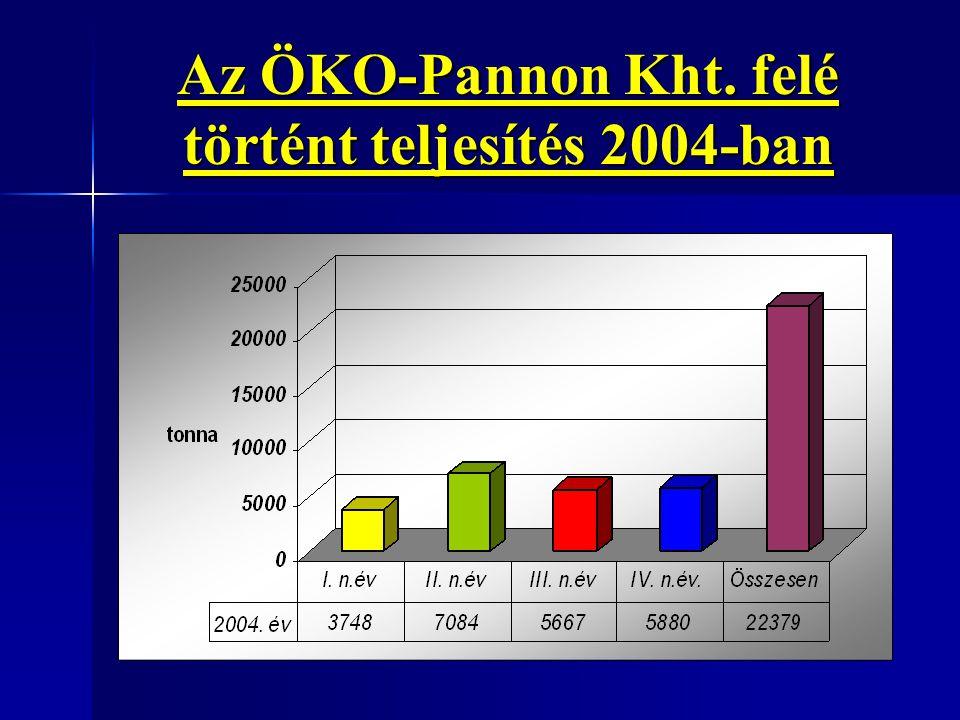 Az ÖKO-Pannon Kht. felé történt teljesítés 2004-ban