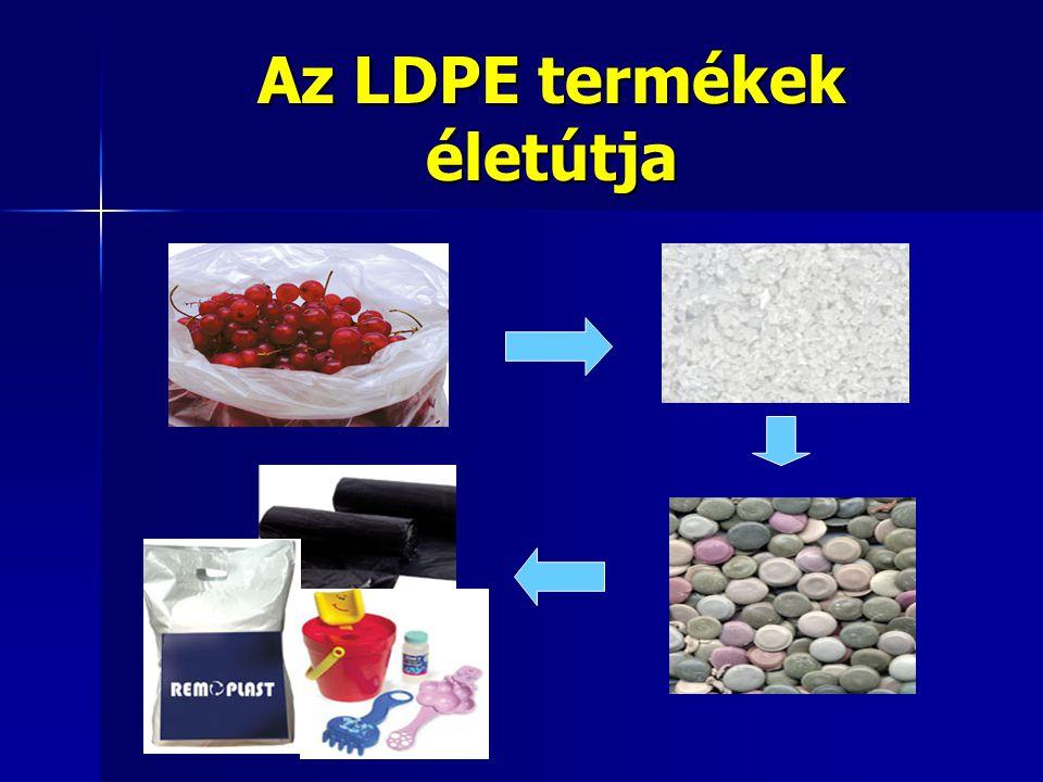 Az LDPE termékek életútja