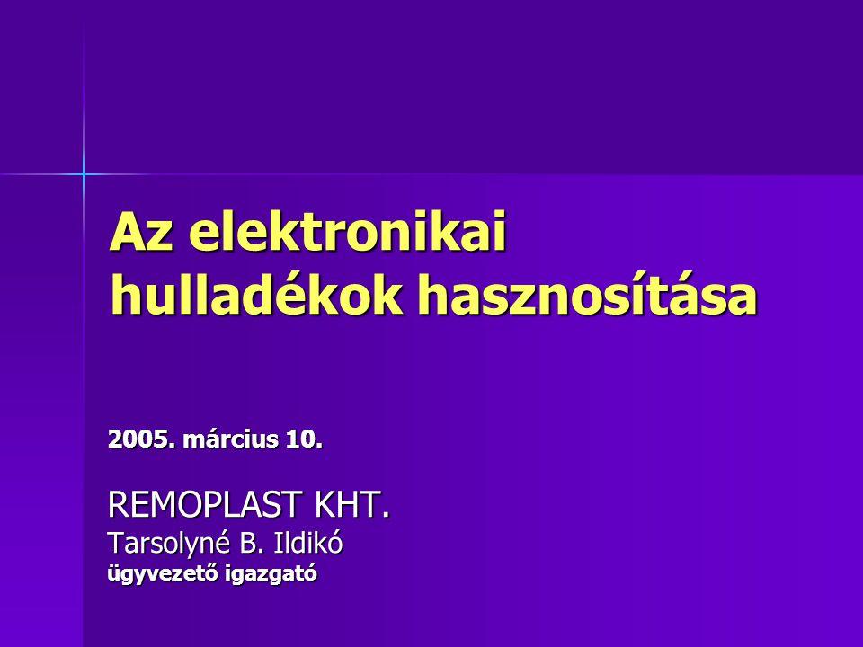 Az elektronikai hulladékok hasznosítása