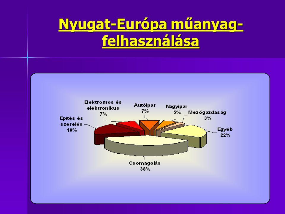 Nyugat-Európa műanyag-felhasználása