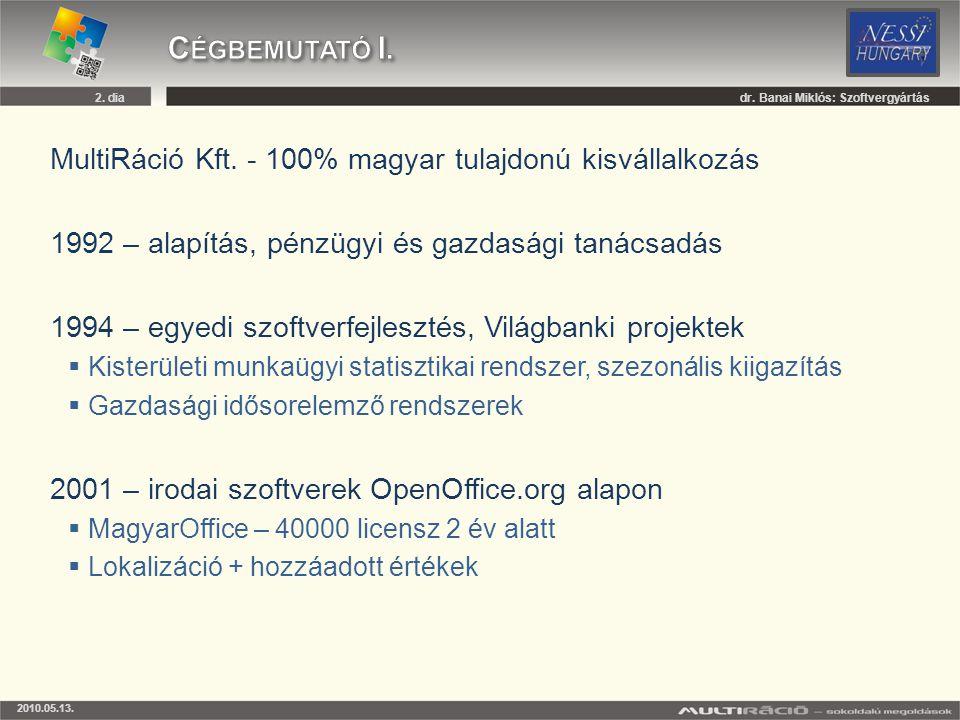 Cégbemutató I. MultiRáció Kft. - 100% magyar tulajdonú kisvállalkozás