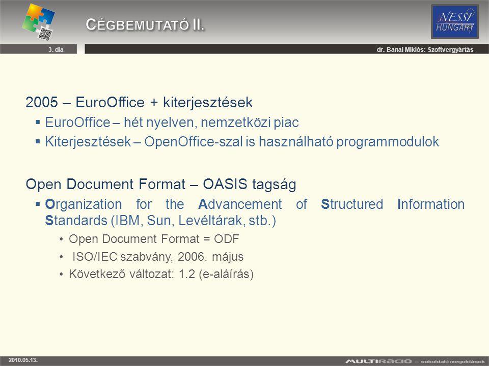 Cégbemutató II. 2005 – EuroOffice + kiterjesztések