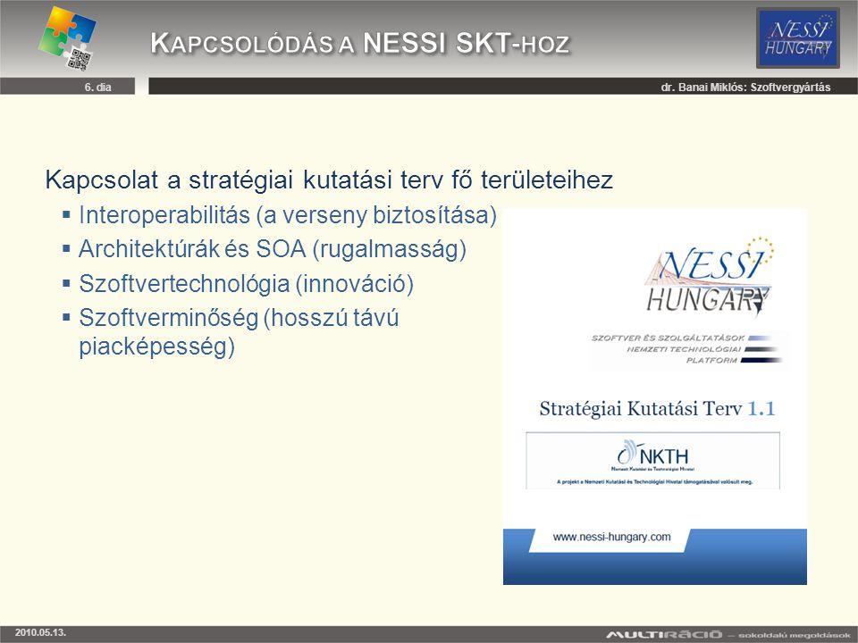 Kapcsolódás a NESSI SKT-hoz