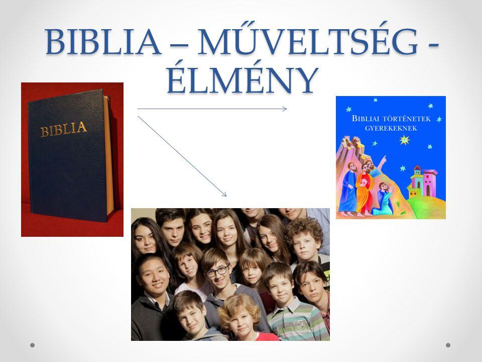 BIBLIA – MŰVELTSÉG - ÉLMÉNY