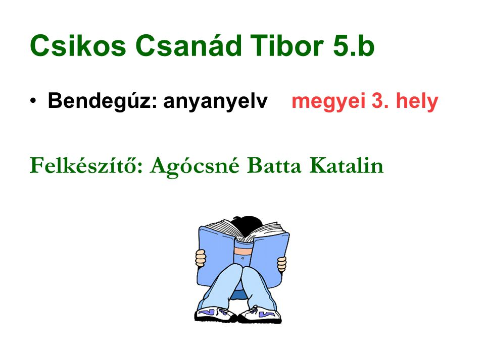 Csikos Csanád Tibor 5.b Felkészítő: Agócsné Batta Katalin