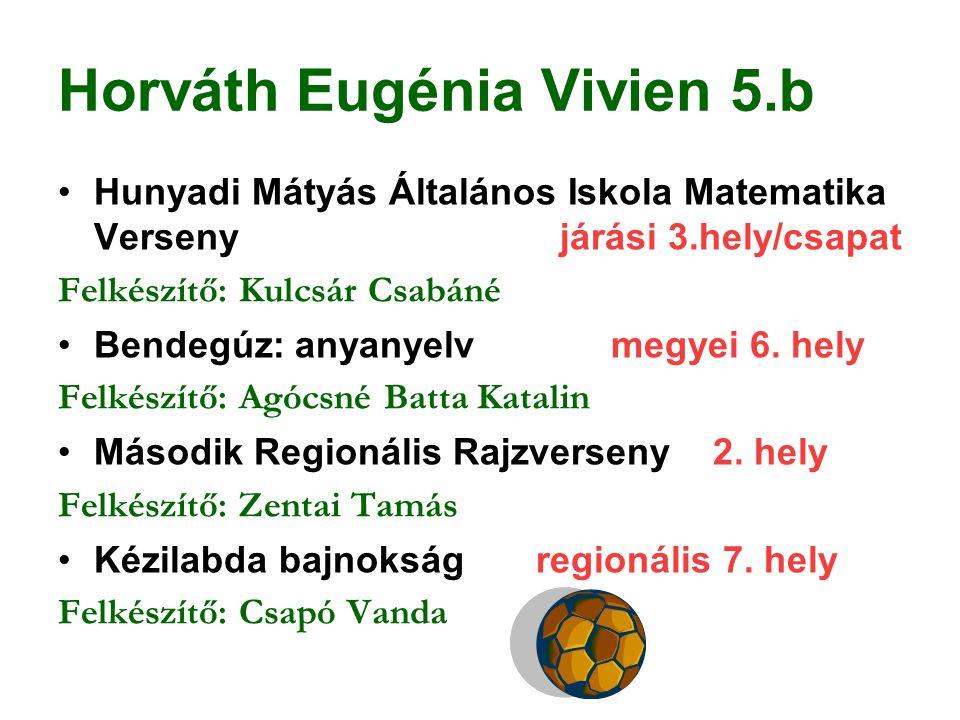 Horváth Eugénia Vivien 5.b