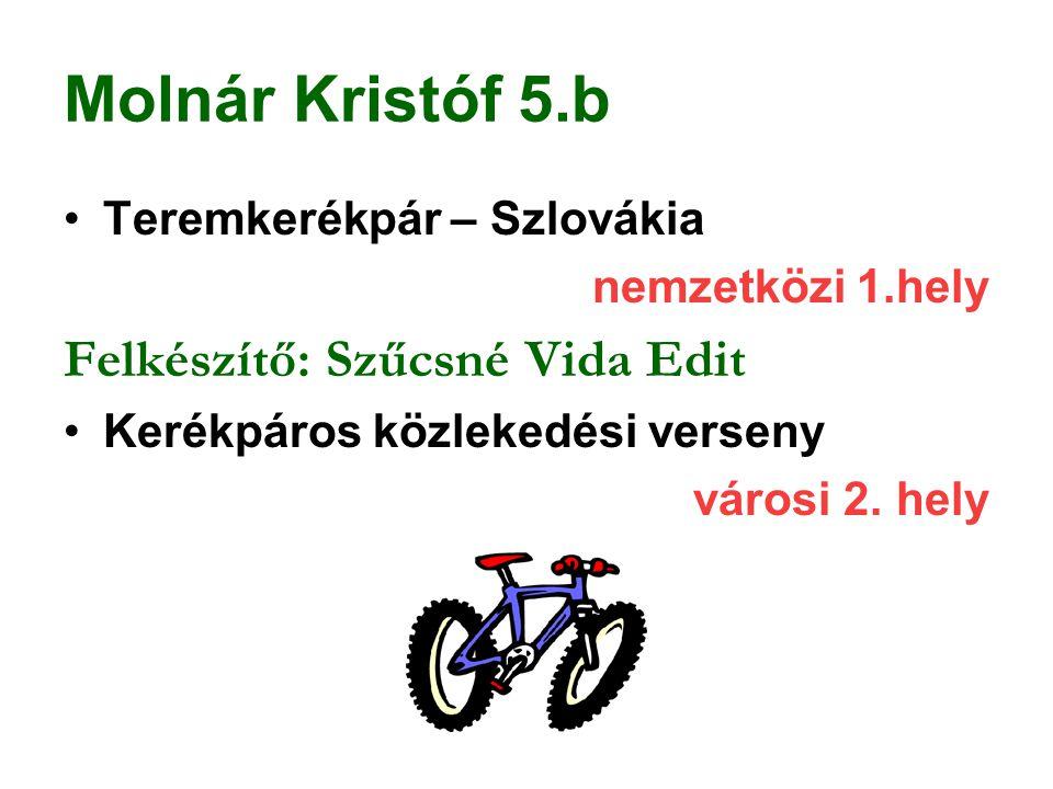 Molnár Kristóf 5.b Felkészítő: Szűcsné Vida Edit