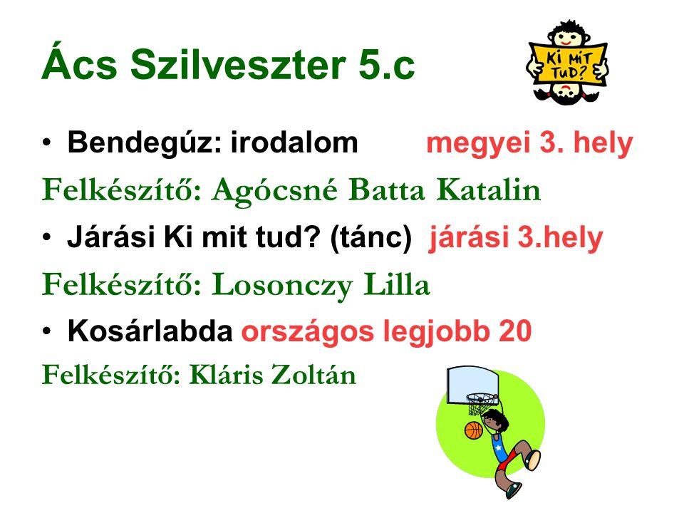 Ács Szilveszter 5.c Felkészítő: Agócsné Batta Katalin