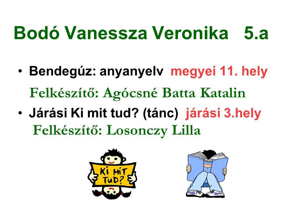 Bodó Vanessza Veronika 5.a