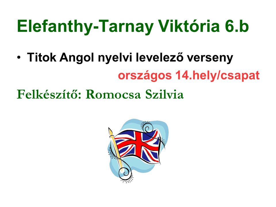Elefanthy-Tarnay Viktória 6.b