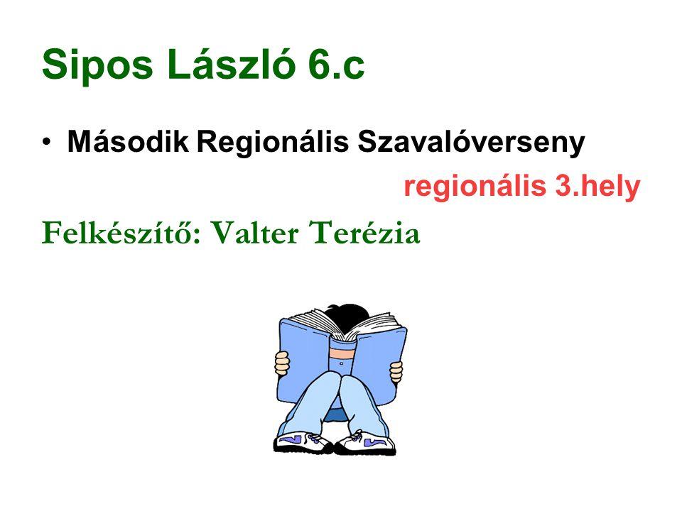 Sipos László 6.c Felkészítő: Valter Terézia