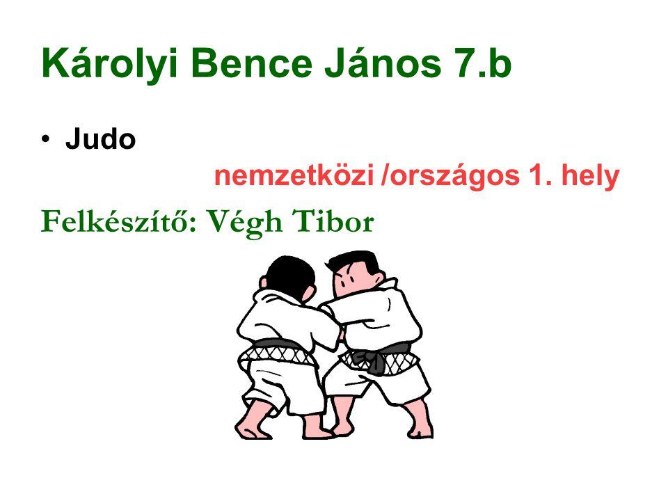 Károlyi Bence János 7.b Felkészítő: Végh Tibor