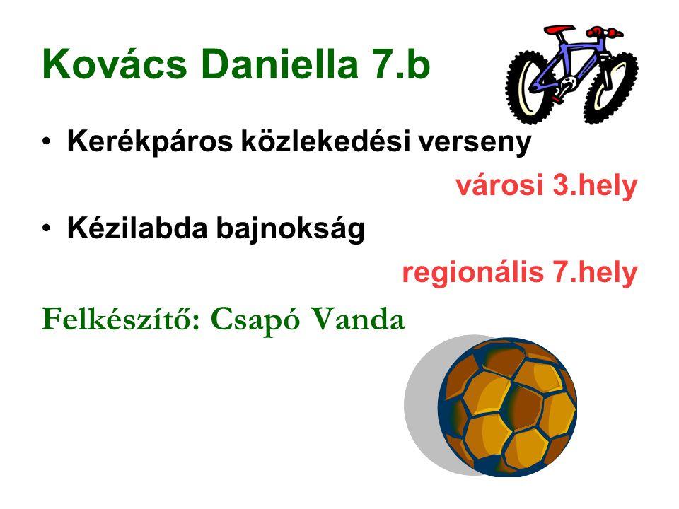 Kovács Daniella 7.b Felkészítő: Csapó Vanda