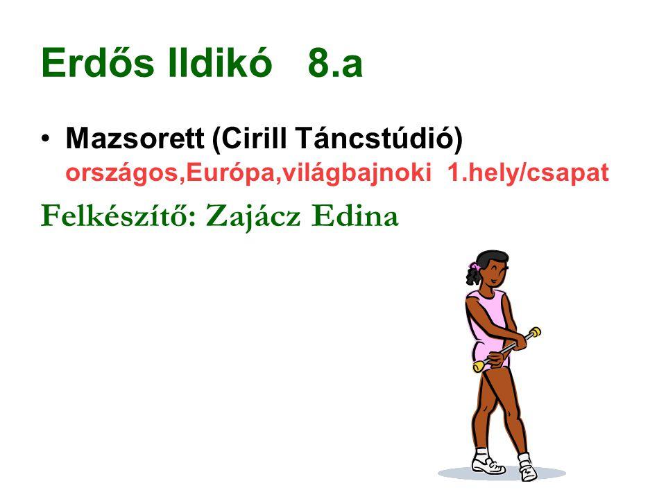 Erdős Ildikó 8.a Felkészítő: Zajácz Edina