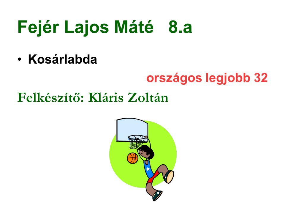 Fejér Lajos Máté 8.a Felkészítő: Kláris Zoltán Kosárlabda