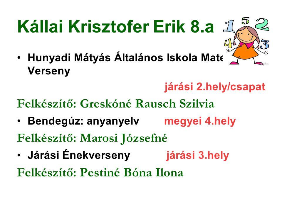Kállai Krisztofer Erik 8.a