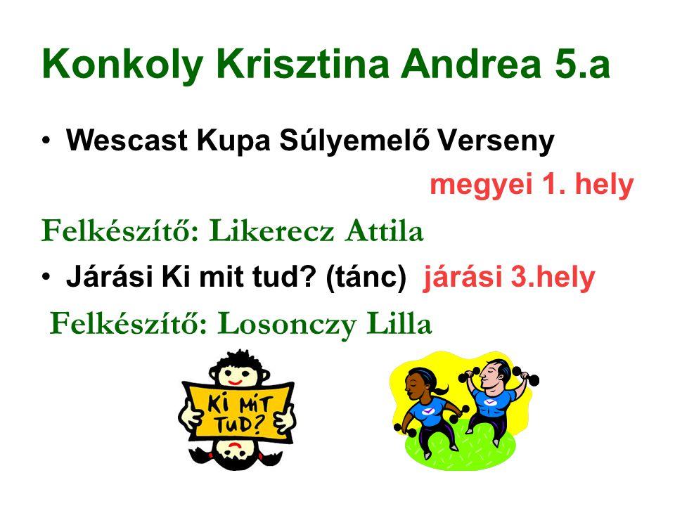 Konkoly Krisztina Andrea 5.a