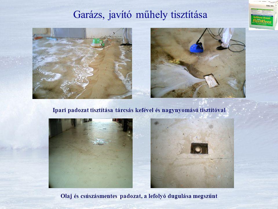 Garázs, javító műhely tisztítása