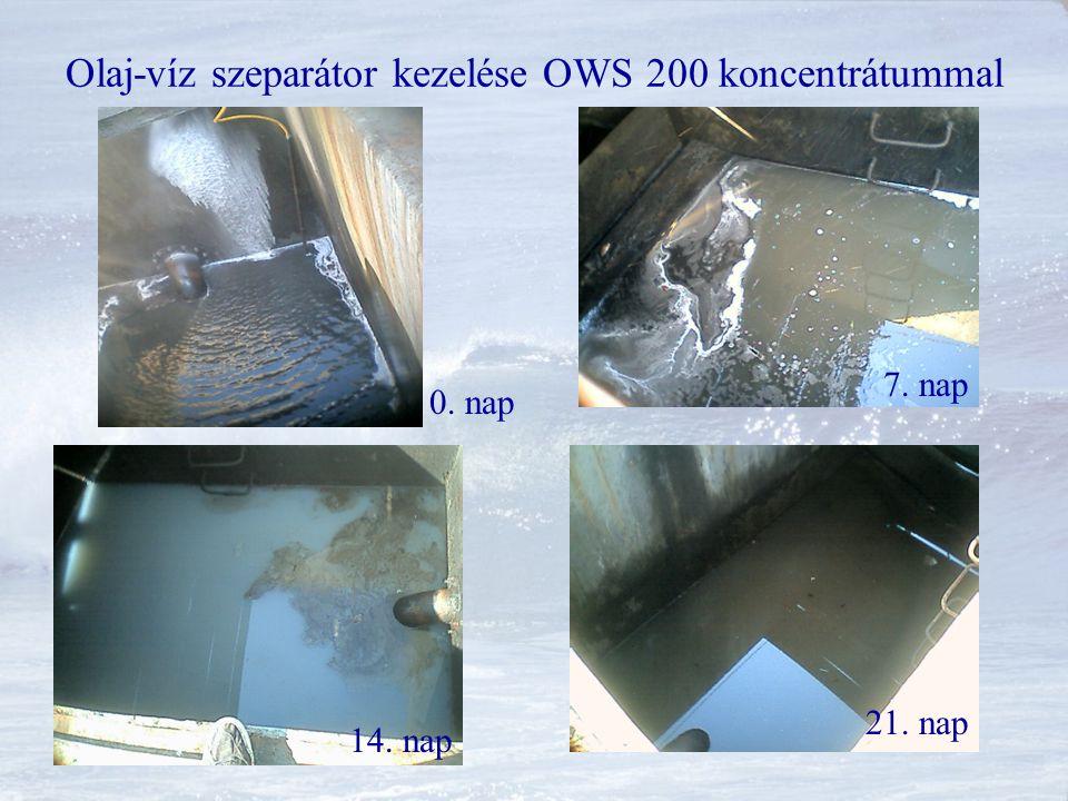 Olaj-víz szeparátor kezelése OWS 200 koncentrátummal