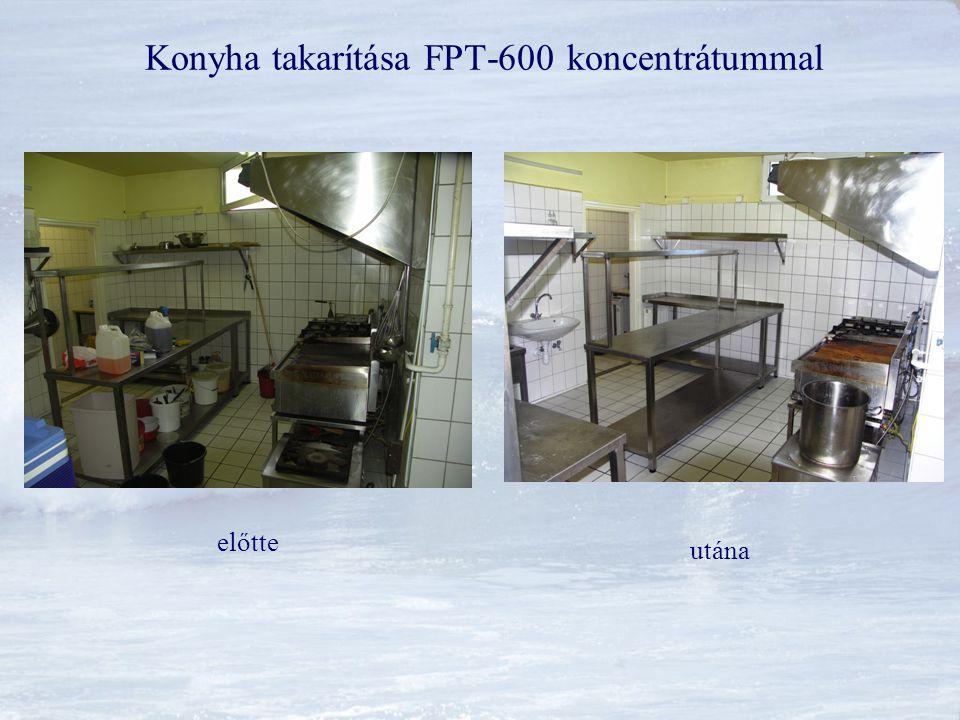 Konyha takarítása FPT-600 koncentrátummal