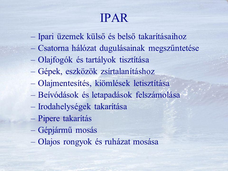 IPAR Ipari üzemek külső és belső takarításaihoz